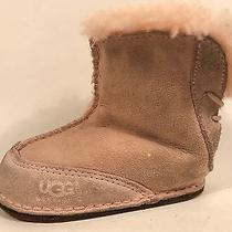 Baby & Toddler Ugg Boo Pink Leather Booties Small 5206 Photo