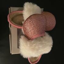 Baby Ugg Fluff Pink Glitter Ballet Flat Size 4/5 (12-18month) Photo