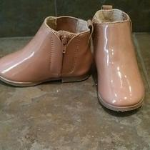 Baby Zara Patent Blush Pink Baby Ankle Boots 4  Photo