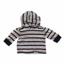 Babygap Boys Striped Hoodie Size 3 Mo  Beige Blue/navy  Cotton Photo