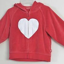 Babygap Girls Size 6-12 Months Red Front Zip Fleece Long Sleeve Hoodie Sweater Photo
