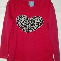 Babygap Lightweight Pink Sweater Black and White Heart Size 3 Photo