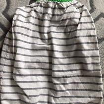 Babygap One Piece 6-12 Month Romper Green and Striped Outfit  Green Bow Photo