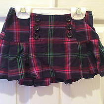 Babygap Plaid Mini Skirt 2 Navy Pink Purple Green Blue Box Pleats School Girl Photo