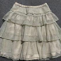 Babygap Ruffle Skirt (Gold) - Size 5 Photo