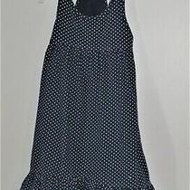 Babygap Size 3 Years Blue Polka Dot  Ruffles Sleeveless Dress Photo