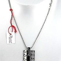 Baccarat B Mania Sterling Silver Necklace Silver Mordore Dog Tag 20