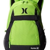 Back Pack Hurley Computer Green Padded Shoulder Straps Photo