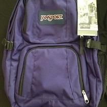 Back to School Jansport Backpack Dark Purple New Photo
