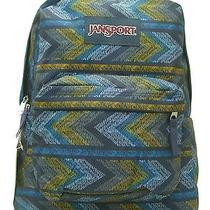 Back to School T501 Jansport Classic Backpack Navy Moonshine Painted Chevrons Photo