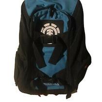 Backpack by Element Skateboards 6 Pocket Lightweight Travel Hiking Blue Black  Photo