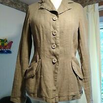 Backstage by Oska Pale Green 100% Linen Unlined Jacket Size S Photo