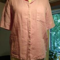 Backstage by Oska Pink 100% Linen Shirt Size S Photo