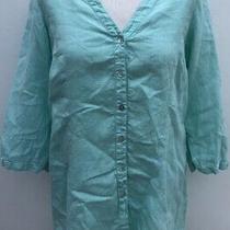 Backstage (Oska) 100% Linen Spearmint Shirt. Size Small (Uk 8/10) Photo
