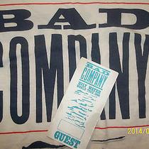Bad Company - Rare 1990 Holy Water W / Backstage Pass Photo