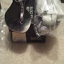 Badgley Mischka Abbie Pewter Sandals Size 9 Photo
