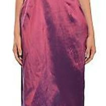 Badgley Mischka Bridesmaids Iridescent Amethyst Taffeta Evening Dress 10 New Photo