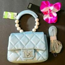 Badgley Mischka Clutch Bag W Pearl Handle Satchel Nwt Msrp 129 Photo