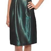 Badgley Mischka Iridescent Taffeta Beaded Dress 2 New Photo