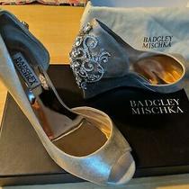 Badgley Mischka Jeweled Meagan Ii Gold (Platino) Wedges Size 7.5 Photo