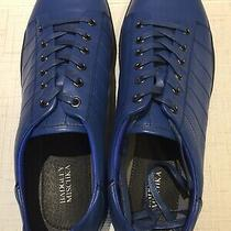 Badgley Mischka Mens Blue Leather Sneakers 12 Nwt Photo