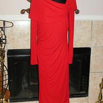 Badgley Mischka Red Evening Dress Size 10 Photo