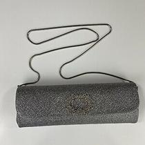Badgley Mischka Silver Rhinestone Chain Wedding Clutch Handbag Purse Nwt 225 Photo