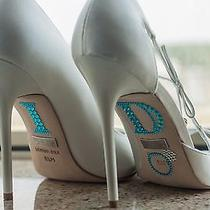 Badgley Mischka Wanda - White Satin - 8.5 Bridal Wedding Shoe W/