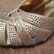 Badgley Mischka Wedding Shoes Silver Size 10 Pumps Classics Photo