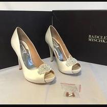 Badgley Mischka Wedding Shoes Size 7 Nib Photo