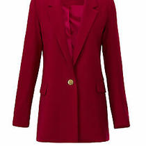 Badgley Mischka Women's Blazer Red Size 20 One Button Tailored Crepe 465- 380 Photo