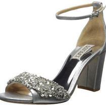 Badgley Mischka Women's Hines Heeled Sandal Silver Size 11.0 Photo