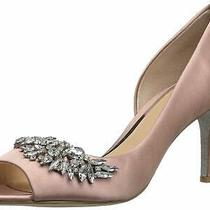Badgley Mischka Women's Melvina Pump Blush Satin Size 5.0 C8tc Photo