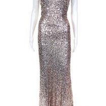 Badgley Mischka Womens Award Winner Gown Blush Size 16 Photo