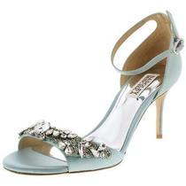 Badgley Mischka Womens Bankston Blue Evening Sandals 6.5 Medium (Bm) Bhfo 4869 Photo