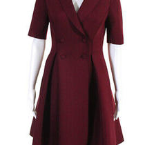 Badgley Mischka Womens Double Breasted a Line Blazer Dress Purple Size 6 Photo