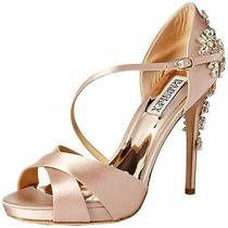 Badgley Mischka Womens Fame Open Toe Ankle Strap D-Orsay Soft Blush Size 9.0 P Photo