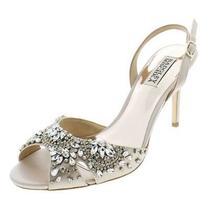 Badgley Mischka Womens Paula Beige Dress Sandals Heels 8 Medium (Bm) Bhfo 4961 Photo
