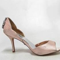 Badgley Mischka Womens Stilettos Shoes Sz 6.5 M Blush Satin 3
