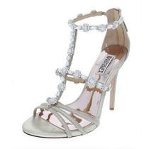 Badgley Mischka Womens Thelma Gold Evening Sandals 6.5 Medium (Bm) Bhfo 6889 Photo