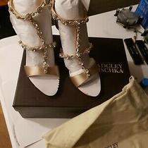 Badgley Mischka Womens Wedge Sandal Shoes 7  Photo