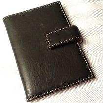 Bag Black Leather Card Case Wallet Avon Gift 4.5