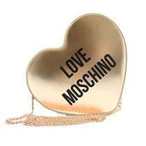 Bag Clutch Shoulder Strap Love Moschino Woman Leather Foil Pink Rame. Form Heart Photo