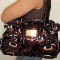 Bag Dark Purple Leather Lk Shiny Handbag Designer Purse Patent Satchel Shoulder Photo