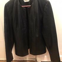 Bagatelle Black Leather Jacket Large L Photo