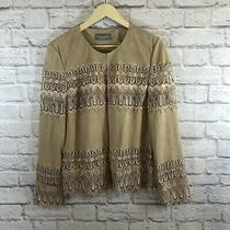 Bagatelle Collection X-Large Jacket Shirt Leather Crochet Lace Top New Womens Photo