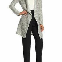 Bagatelle Draped Front Woven Knit Cardigan Black White S New 67500 Photo