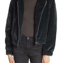 Bagatelle Hooded Faux Fur Soft Teddy Jacket Emerald Green Medium Photo