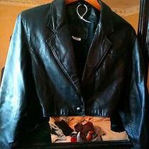 Bagatelle Short Leather Jacket Motorcycle Apparel. Womens 8 Photo