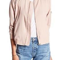 Bagatelle Solid Blush Bomber Jacket Size M Photo